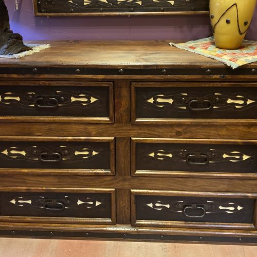 Hacienda Tooled Leather Dresser in Yellow