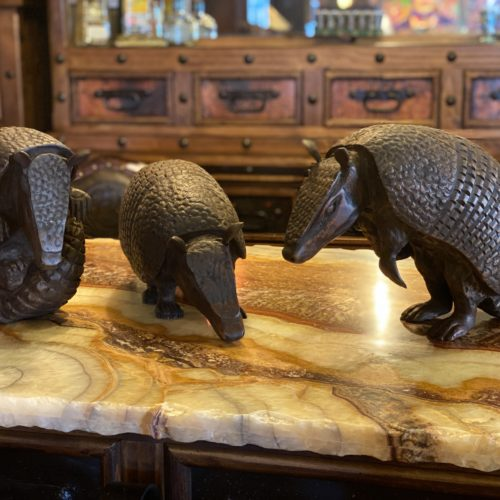 Hand Carved Armadillos