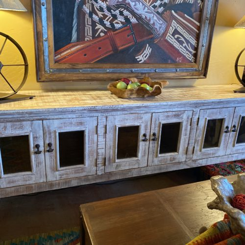 Farm House Buffet in White Wash