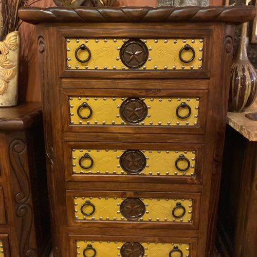 Lone Star Tooled Leather Tallboy in Yellow