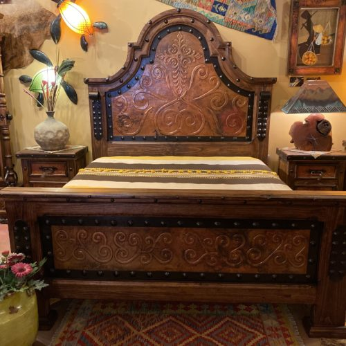 Alamo Ornate Copper Bed