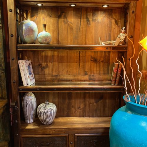 Hacienda Tooled Leather Bookcase XL