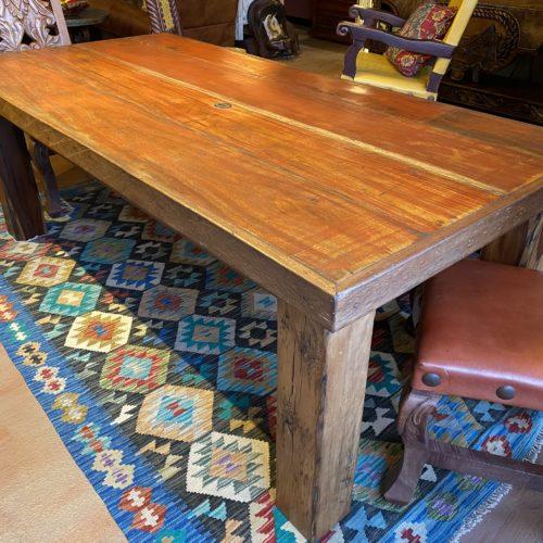 Chameleon Table with Parota Legs