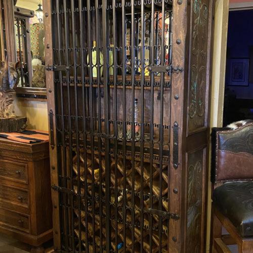 Ornate Acid Copper & Gates Wine Cabinet