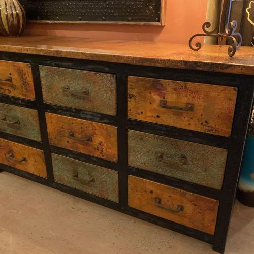 Checkered Copper Dresser