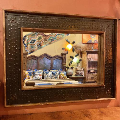 Hacienda Hammered Metal Inlay Mirror
