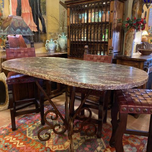 Oval Onyx Pub Table