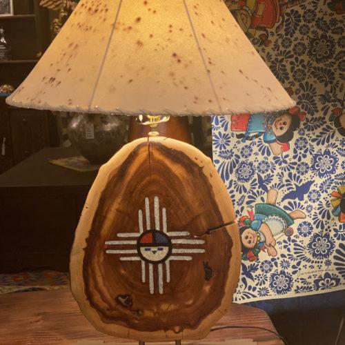 Native Indian Symbol Mesquite Lamp