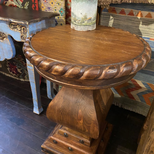 Round Rope Edge End Table