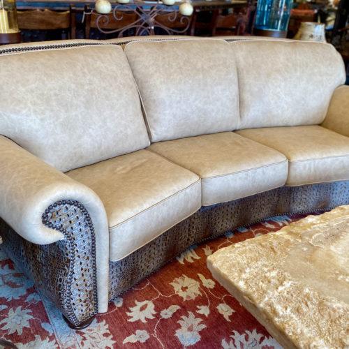 Silverado French Vanilla Conversational Sofa