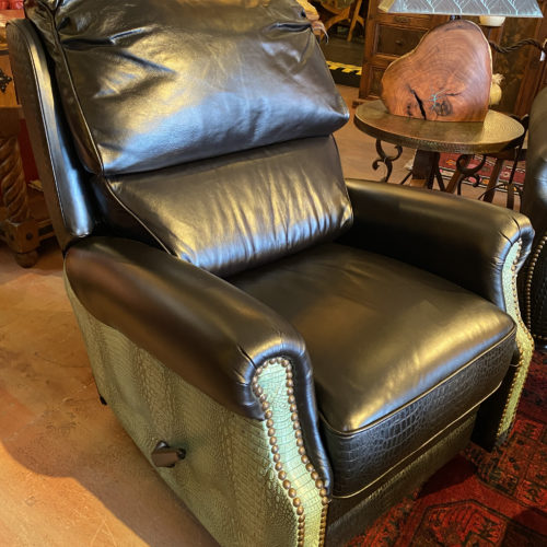 Malone Antique Turquoise Swivel & Glider Recliner