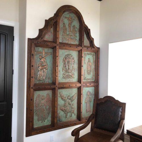 Handcrafted Copper Altarpiece